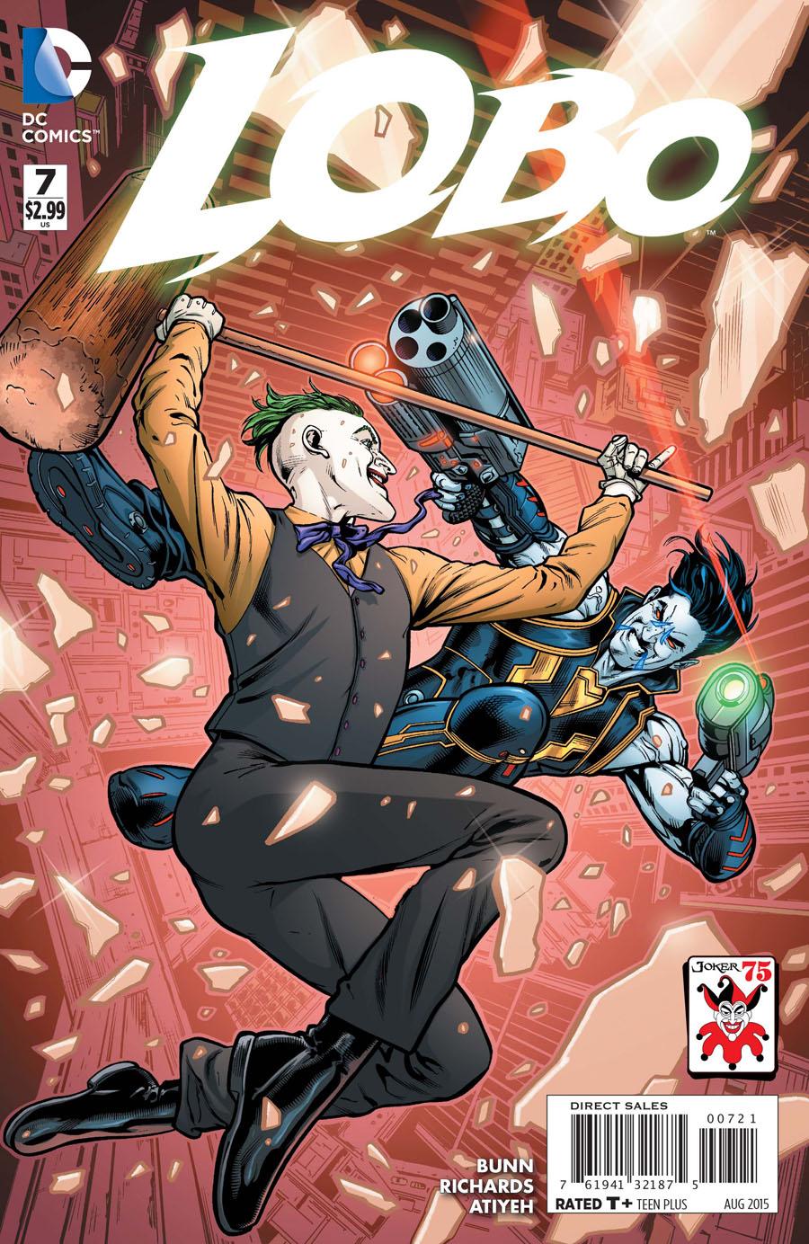 Lobo Vol 3 #7 Cover B Variant Neil Edwards The Joker 75th Anniversary Cover