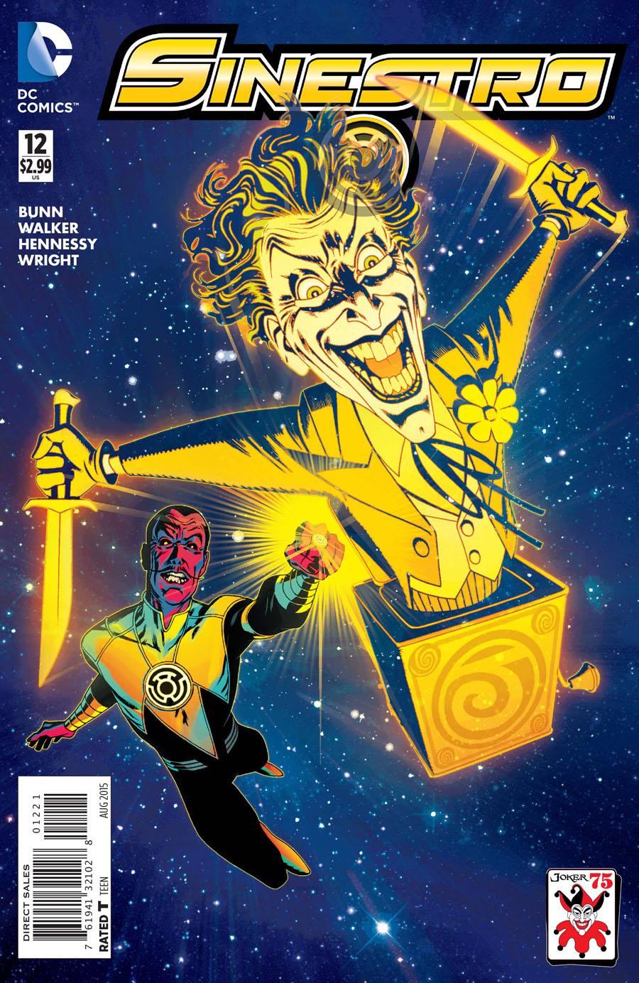 Sinestro #12 Cover B Variant Joshua Middleton The Joker 75th Anniversary Cover