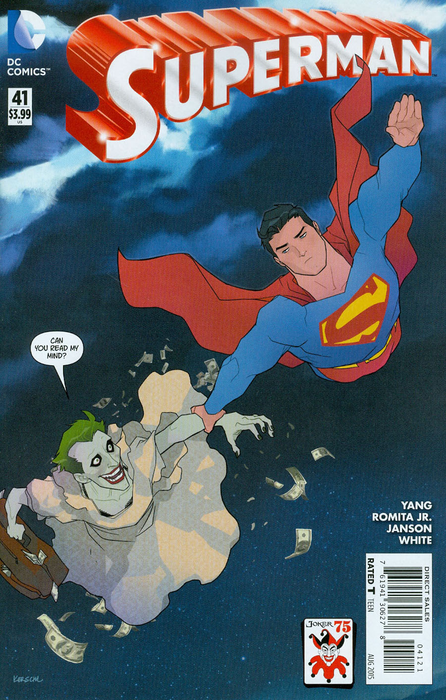 Superman Vol 4 #41 Cover B Variant Karl Kerschl The Joker 75th Anniversary Cover