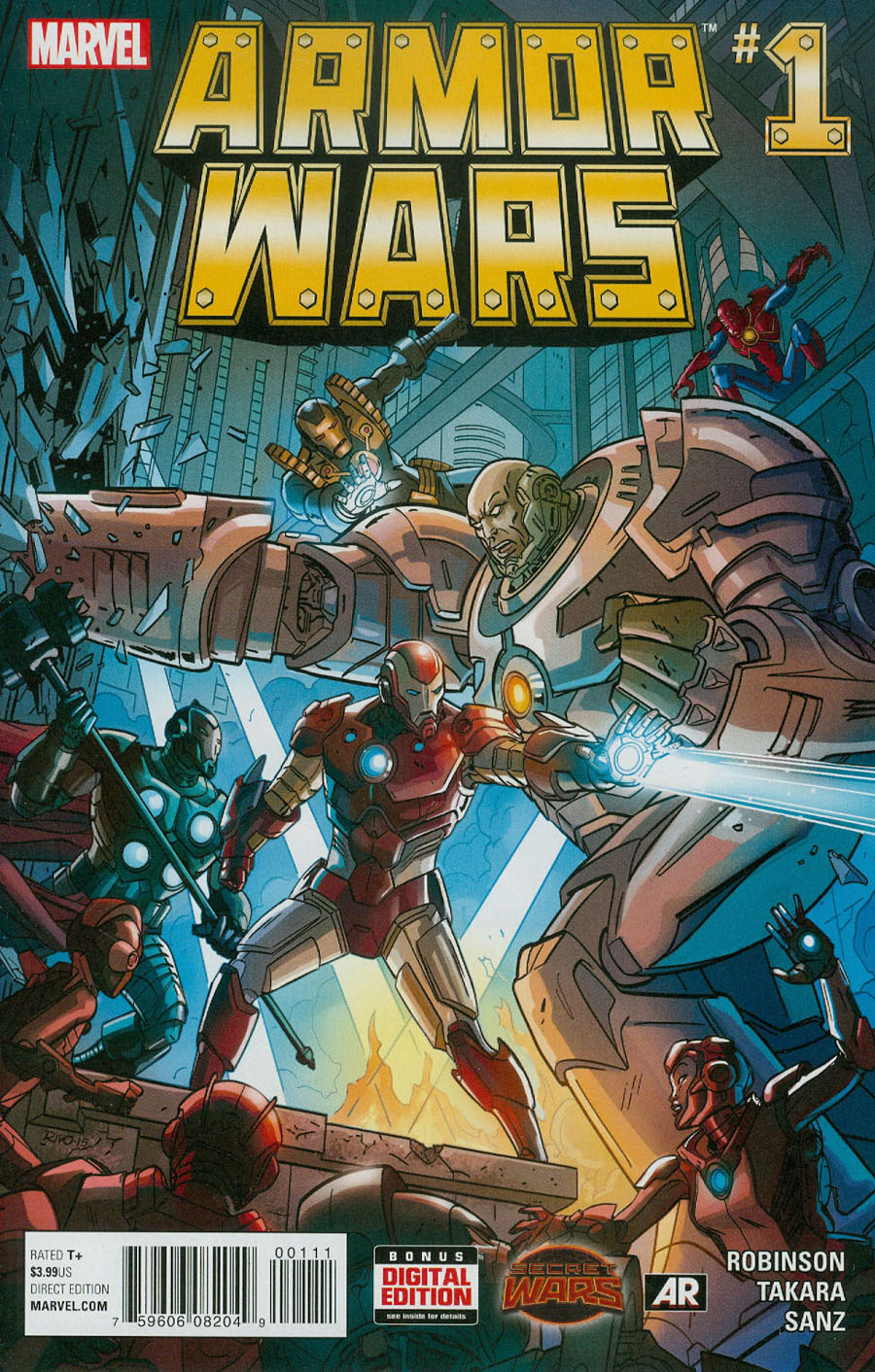Armor Wars #1 Cover A Regular Paul Rivoche Cover (Secret Wars Warzones Tie-In)