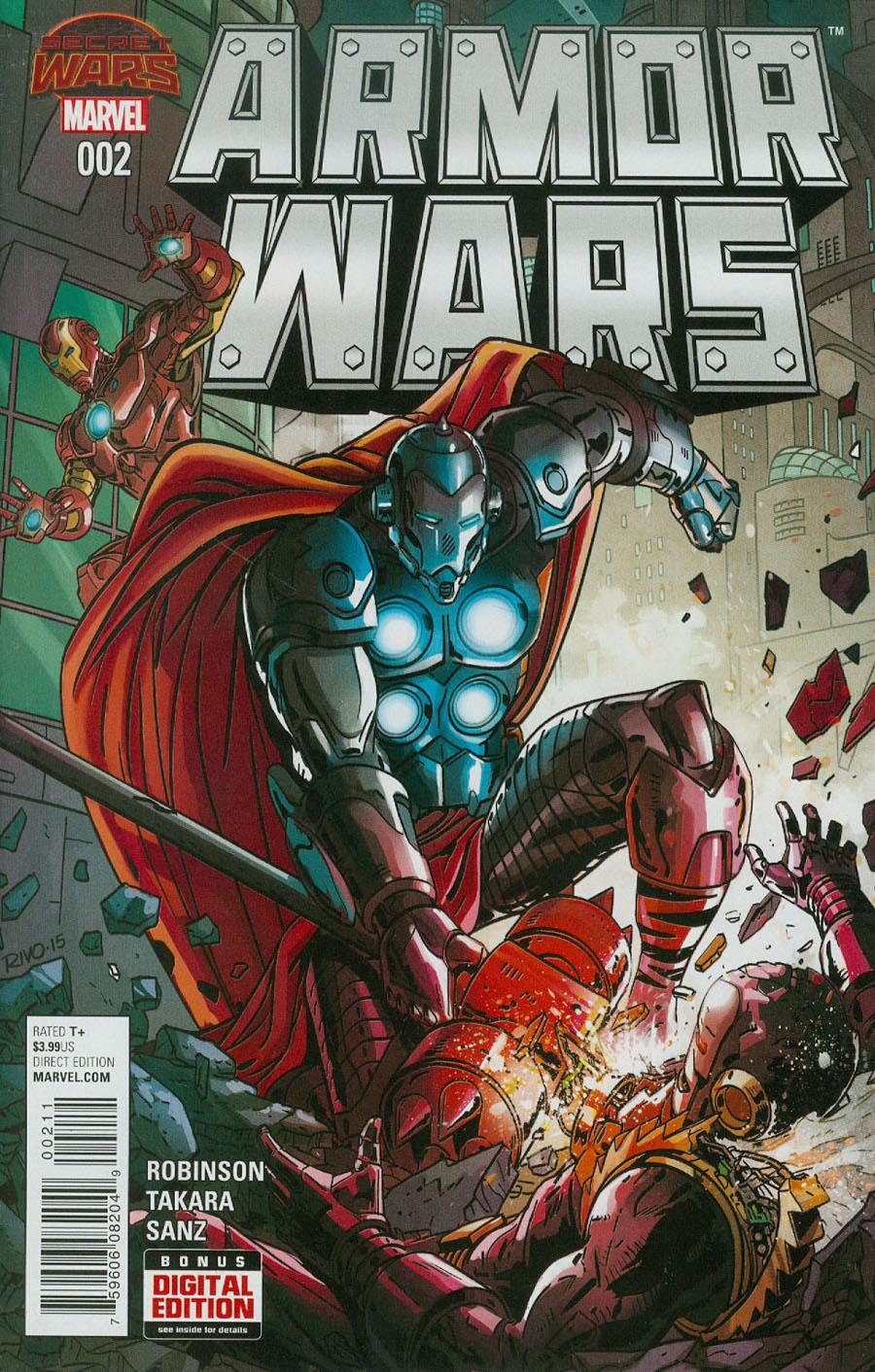 Armor Wars #2 Cover A Regular Paul Rivoche Cover (Secret Wars Warzones Tie-In)