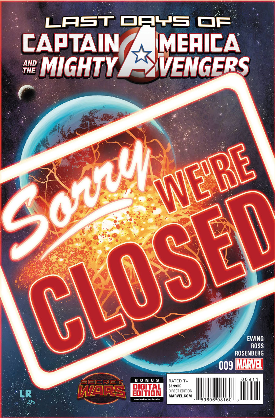 Captain America And The Mighty Avengers #9 Cover A Regular Luke Ross Cover (Secret Wars Last Days Tie-In)