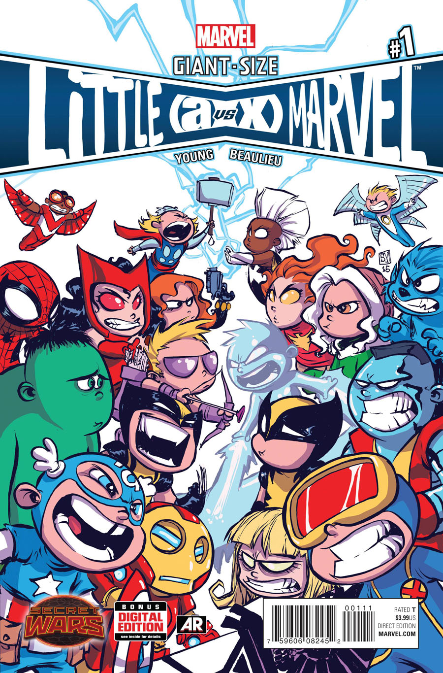 Giant-Size Little Marvel AvX #1 Cover A Regular Skottie Young Cover (Secret Wars Warzones Tie-In)