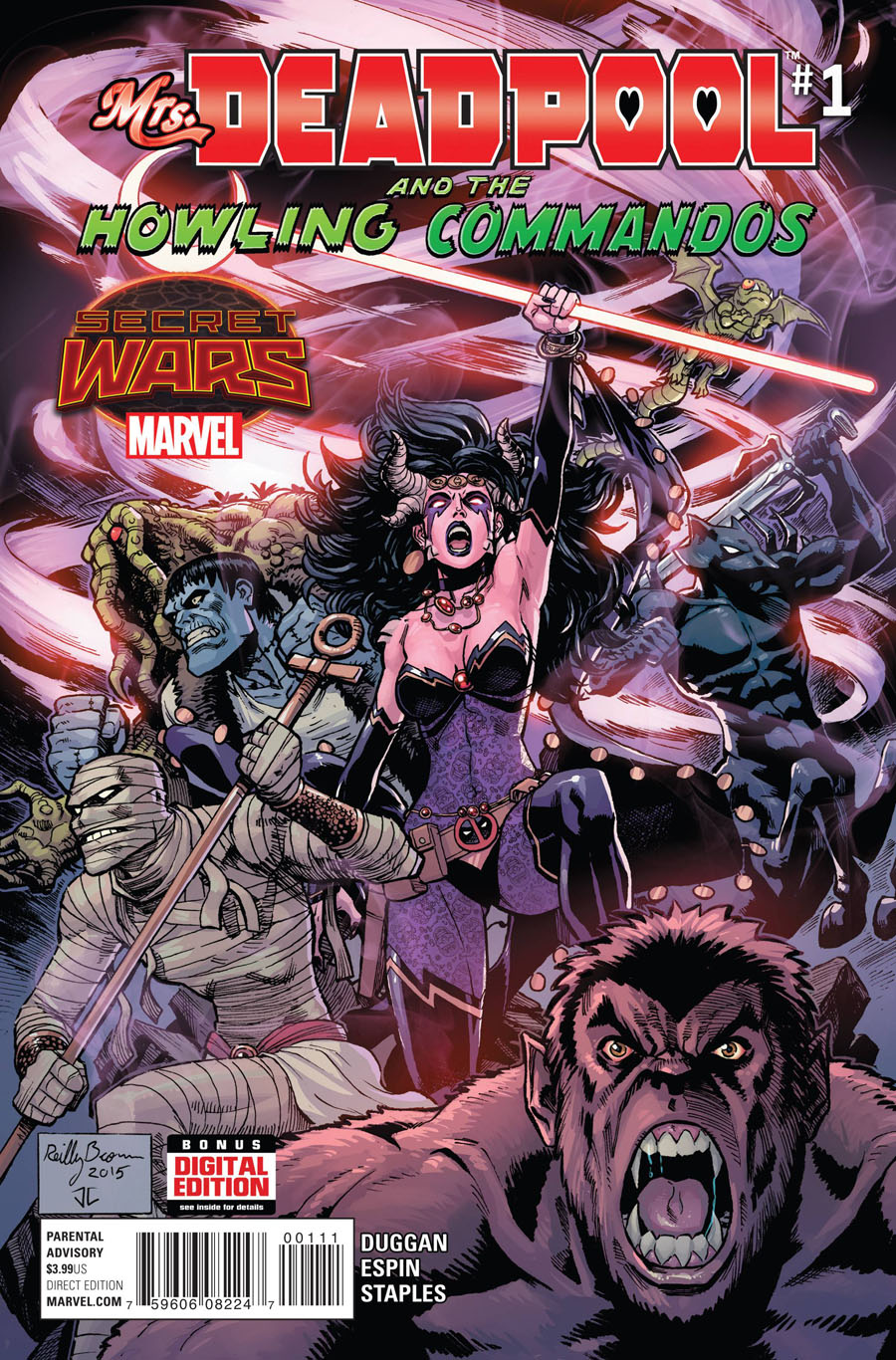 Mrs Deadpool And The Howling Commandos #1 Cover A 1st Ptg Regular Reilly Brown Cover (Secret Wars Warzones Tie-In)