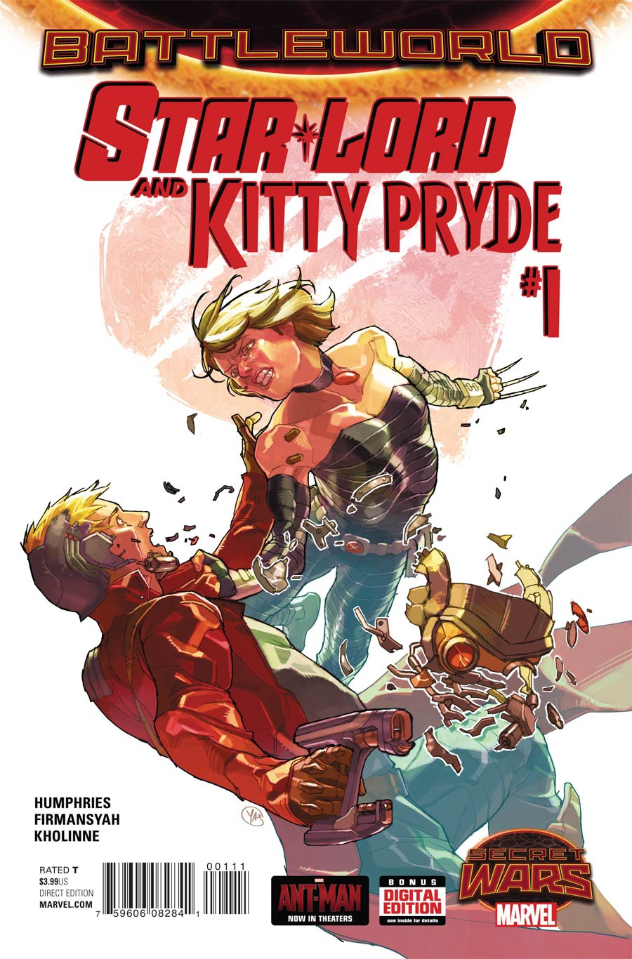 Star-Lord And Kitty Pryde #1 Cover A Regular Yasmine Putri Cover (Secret Wars Battleworld Tie-In)