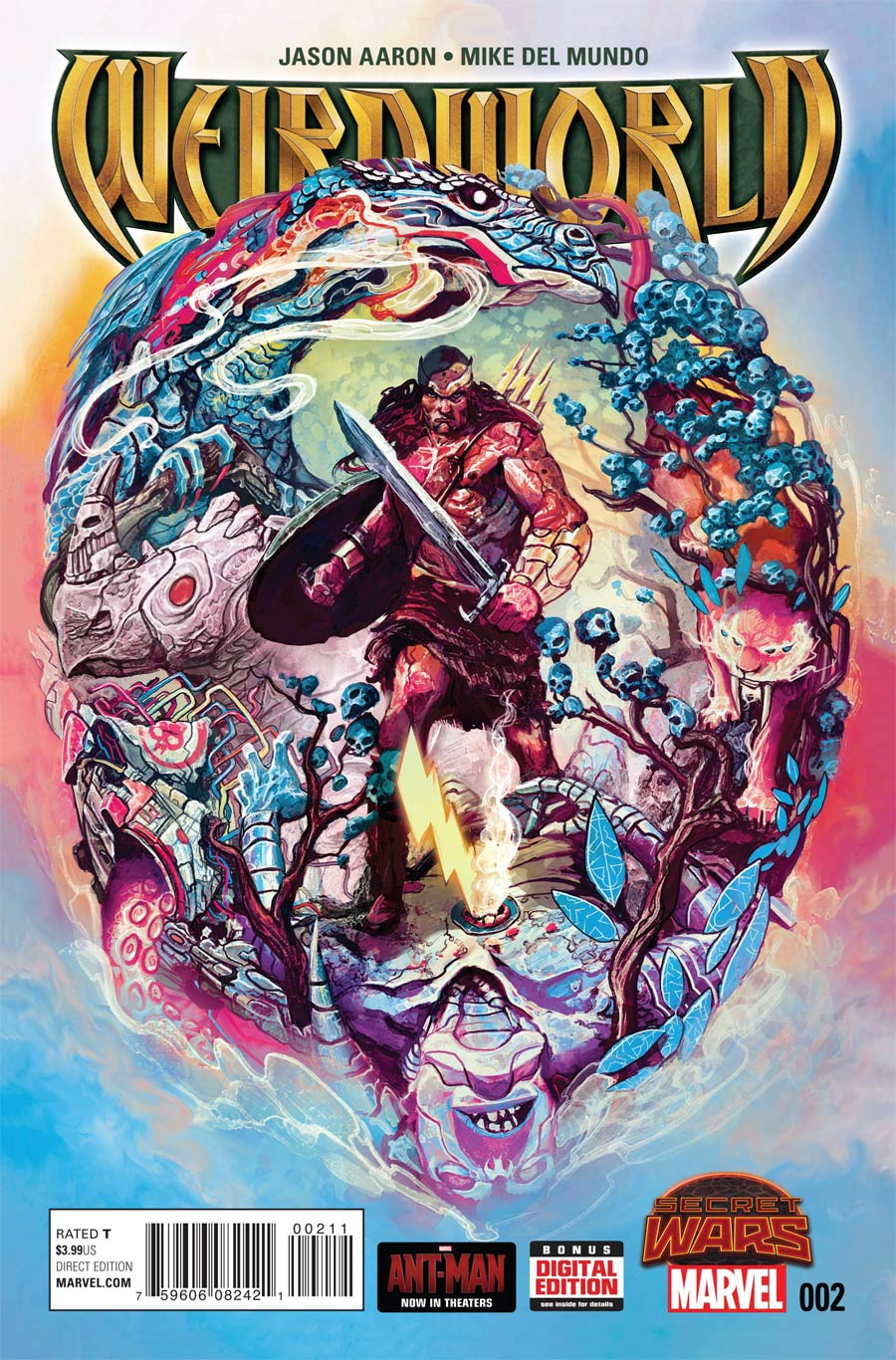 Weirdworld #2 Cover A Regular Michael Del Mundo Cover (Secret Wars Warzones Tie-In)
