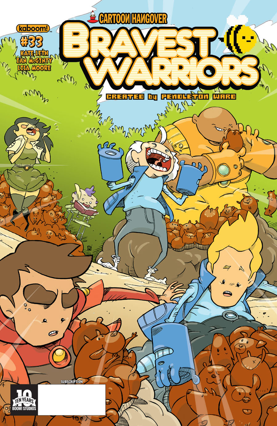 Bravest Warriors #33 Cover B Variant Andrea Fontana Subscription Cover