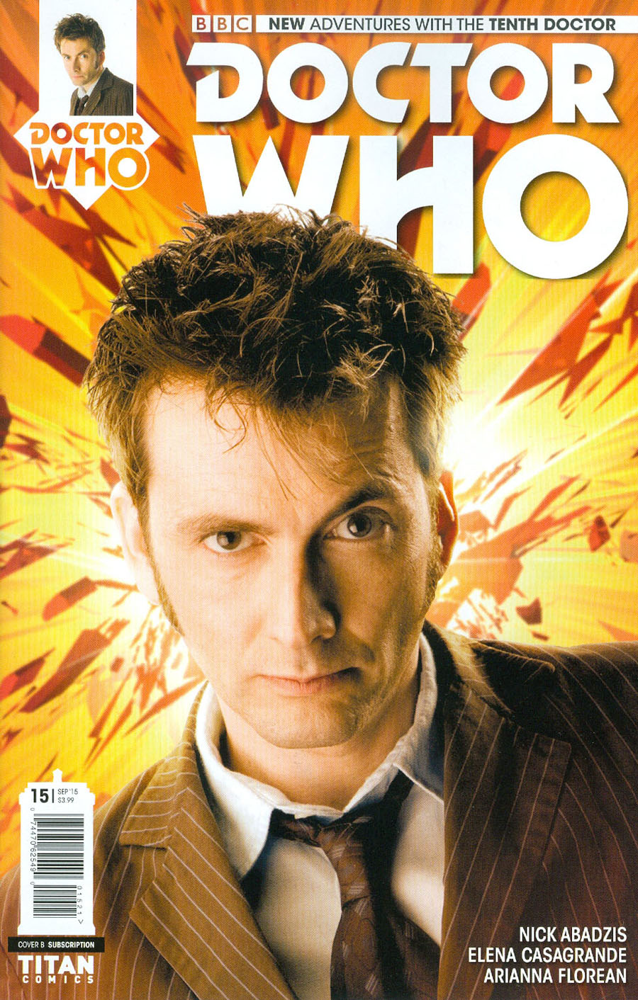 Doctor Who 10th Doctor #15 Cover B Variant Photo Subscription Cover