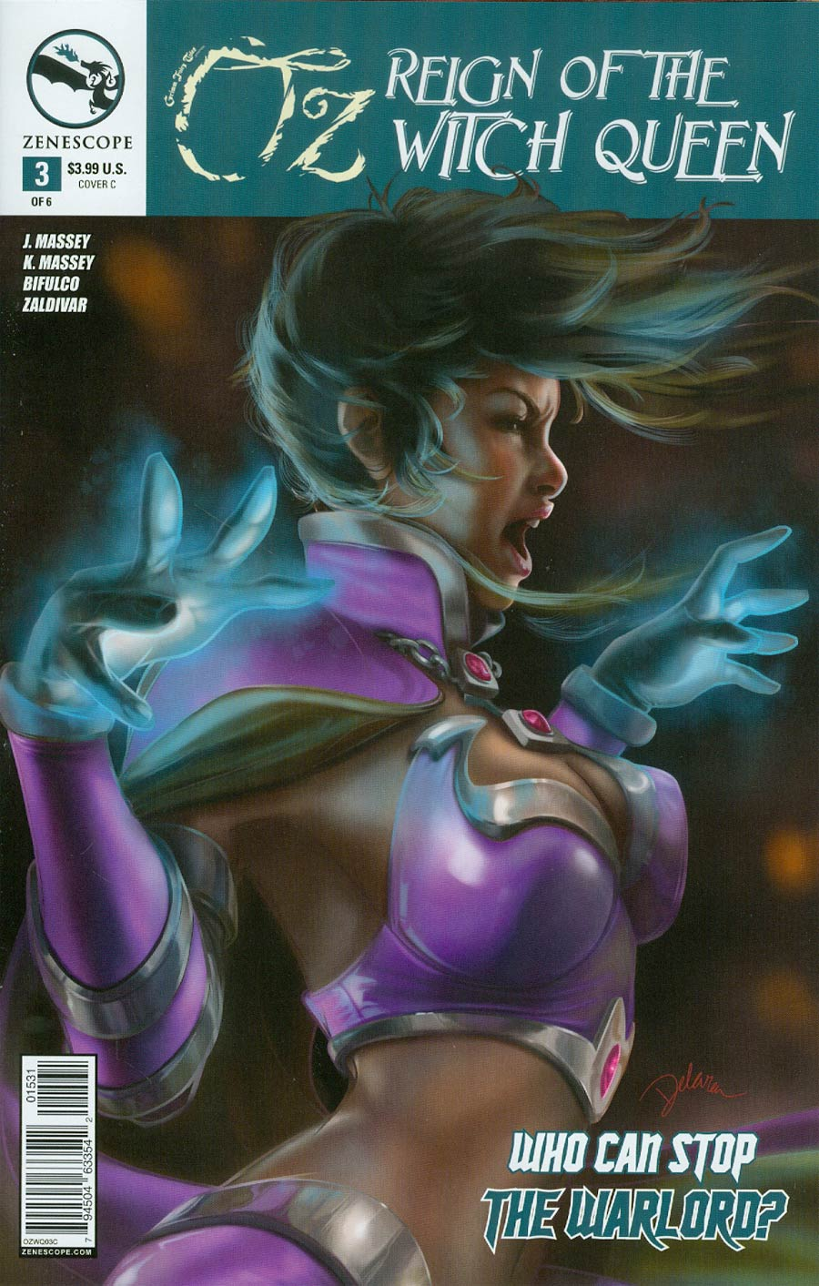 Grimm Fairy Tales Presents Oz Reign Of The Witch Queen #3 Cover C Cris Delara