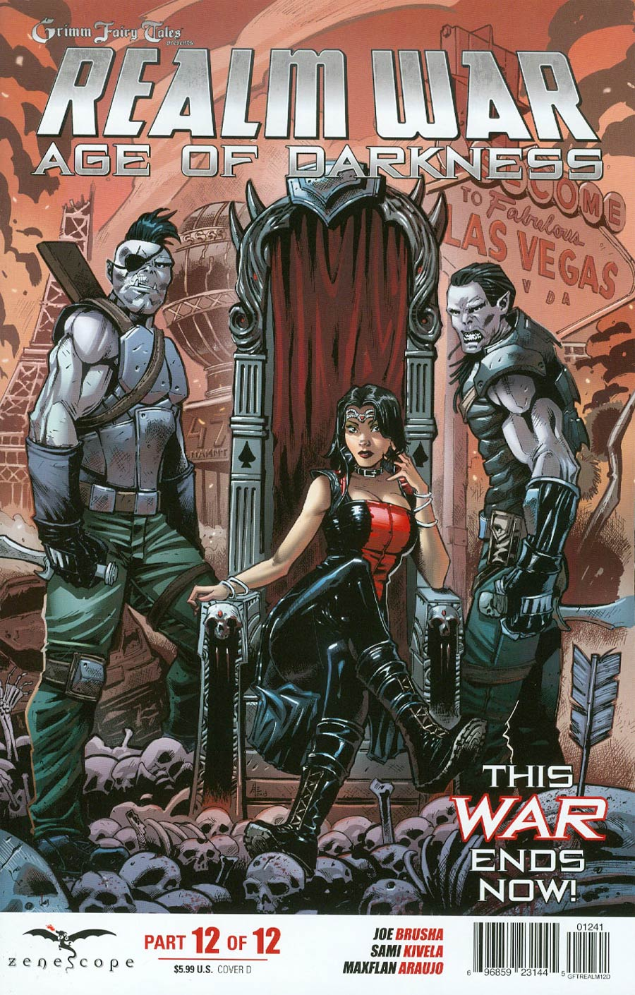 Grimm Fairy Tales Presents Realm War #12 Cover D Andrea Errico (Age Of Darkness Tie-In)