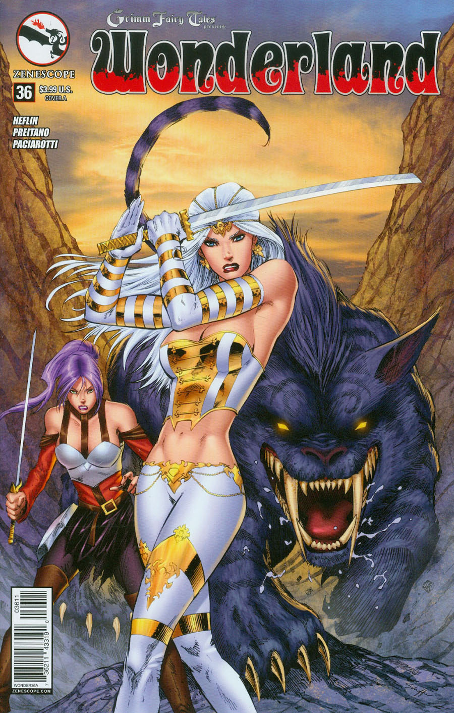 Grimm Fairy Tales Presents Wonderland Vol 2 #36 Cover A Jason Metcalf