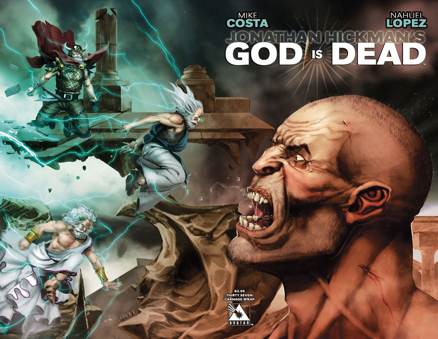 God Is Dead #37 Cover C Carnage Wraparound Cover