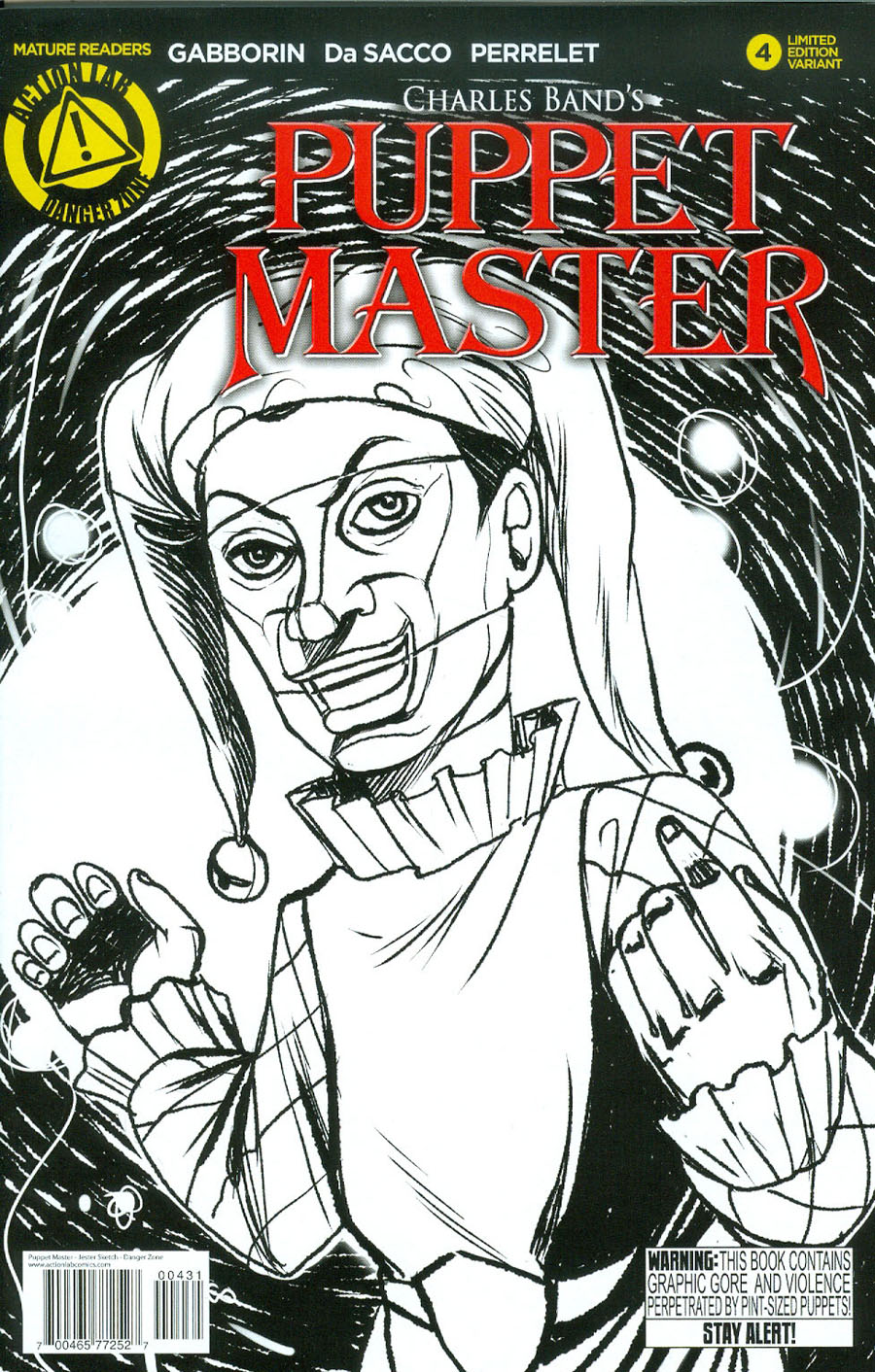 Puppet Master #4 Cover C Variant Jester Sketch Cover