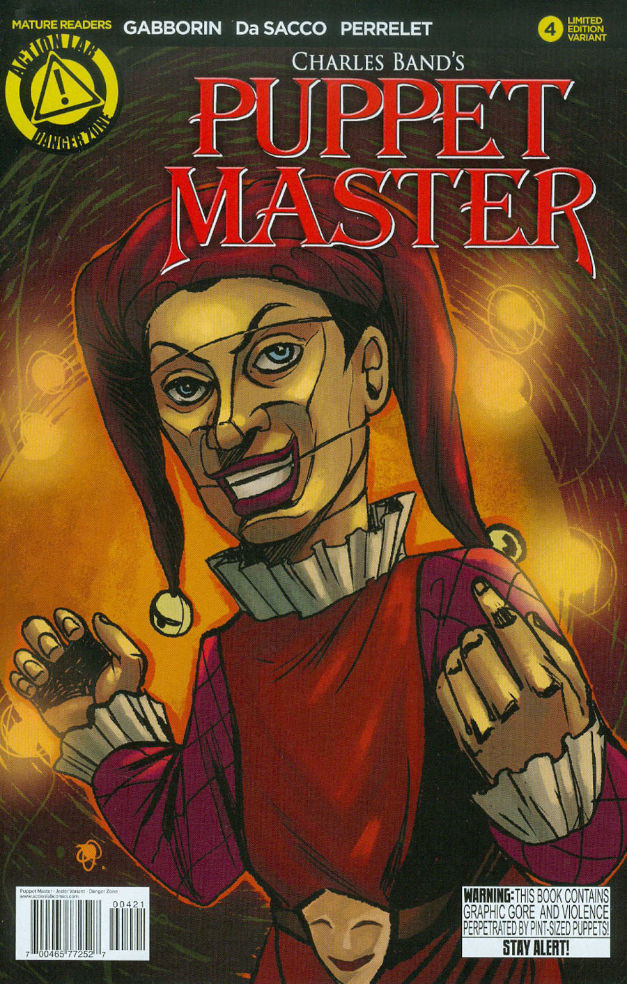 Puppet Master #4 Cover B Variant Jester Color Cover