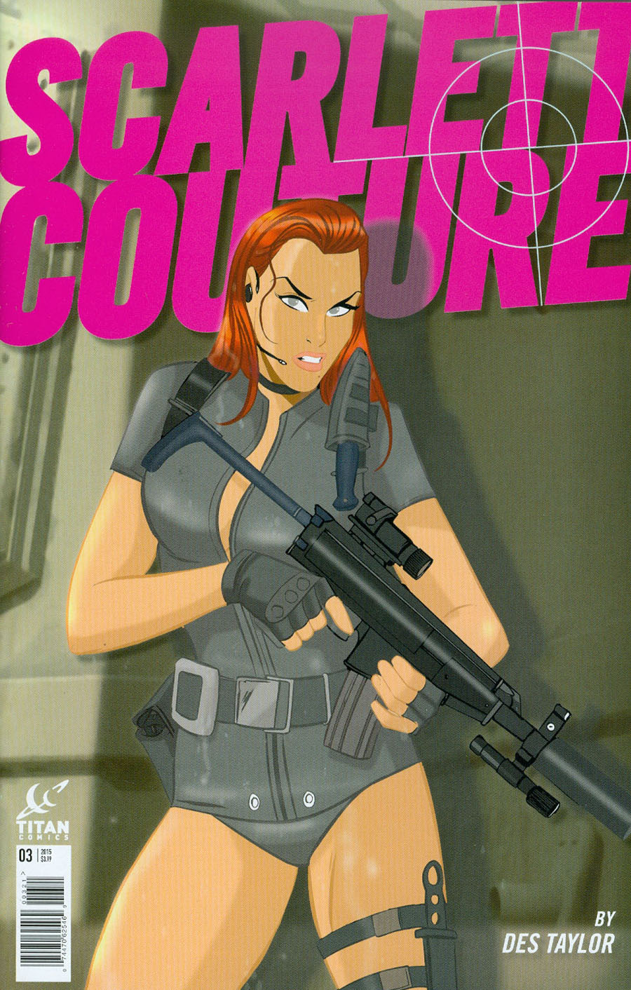 Scarlett Couture #3 Cover B Variant Des Taylor Subscription Cover