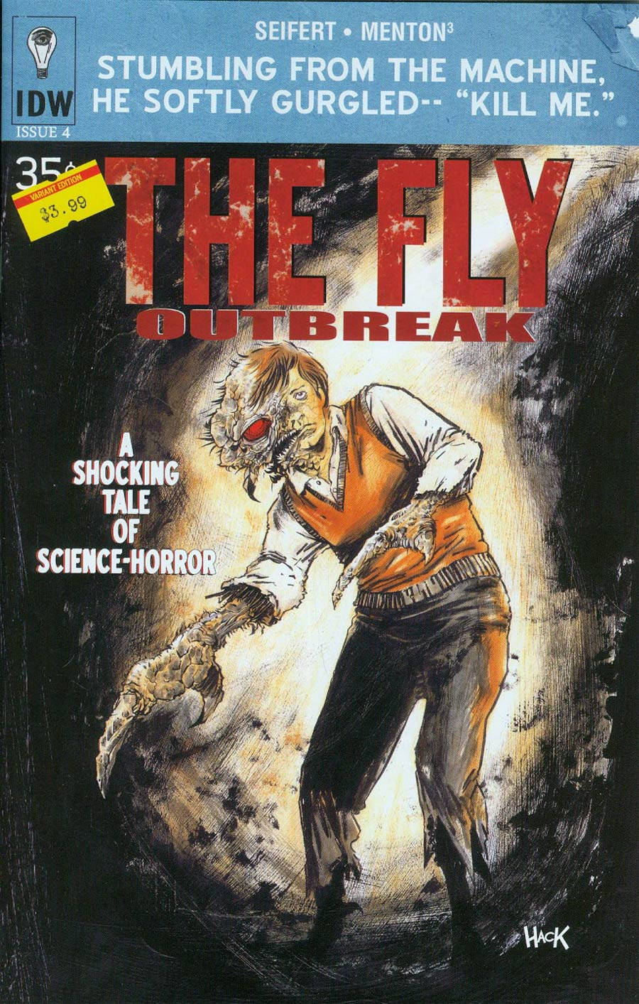 Fly Outbreak #4 Cover B Variant Robert Hack Subscription Cover
