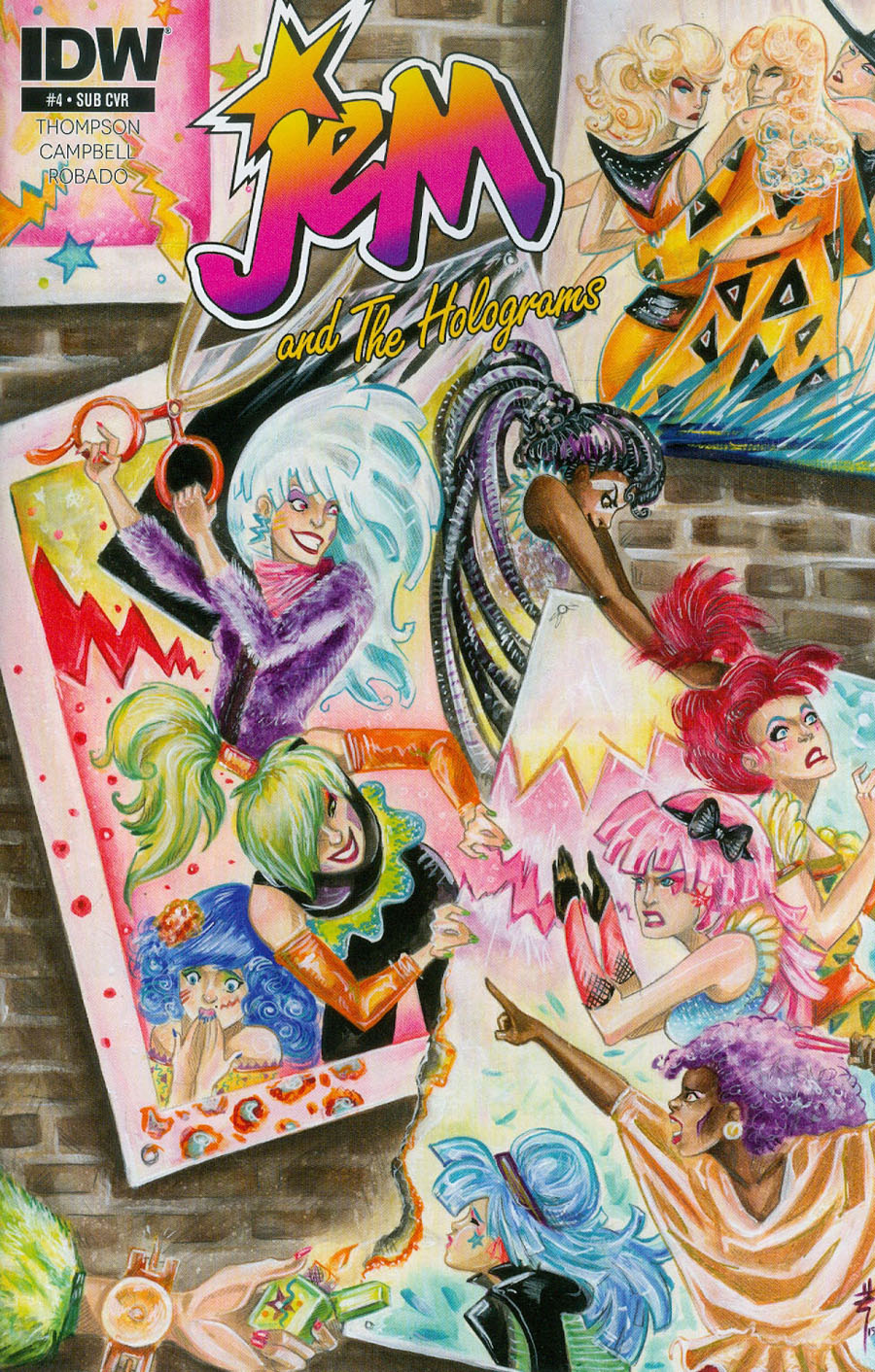 Jem And The Holograms #4 Cover B Variant Sarah Richards Subscription Cover