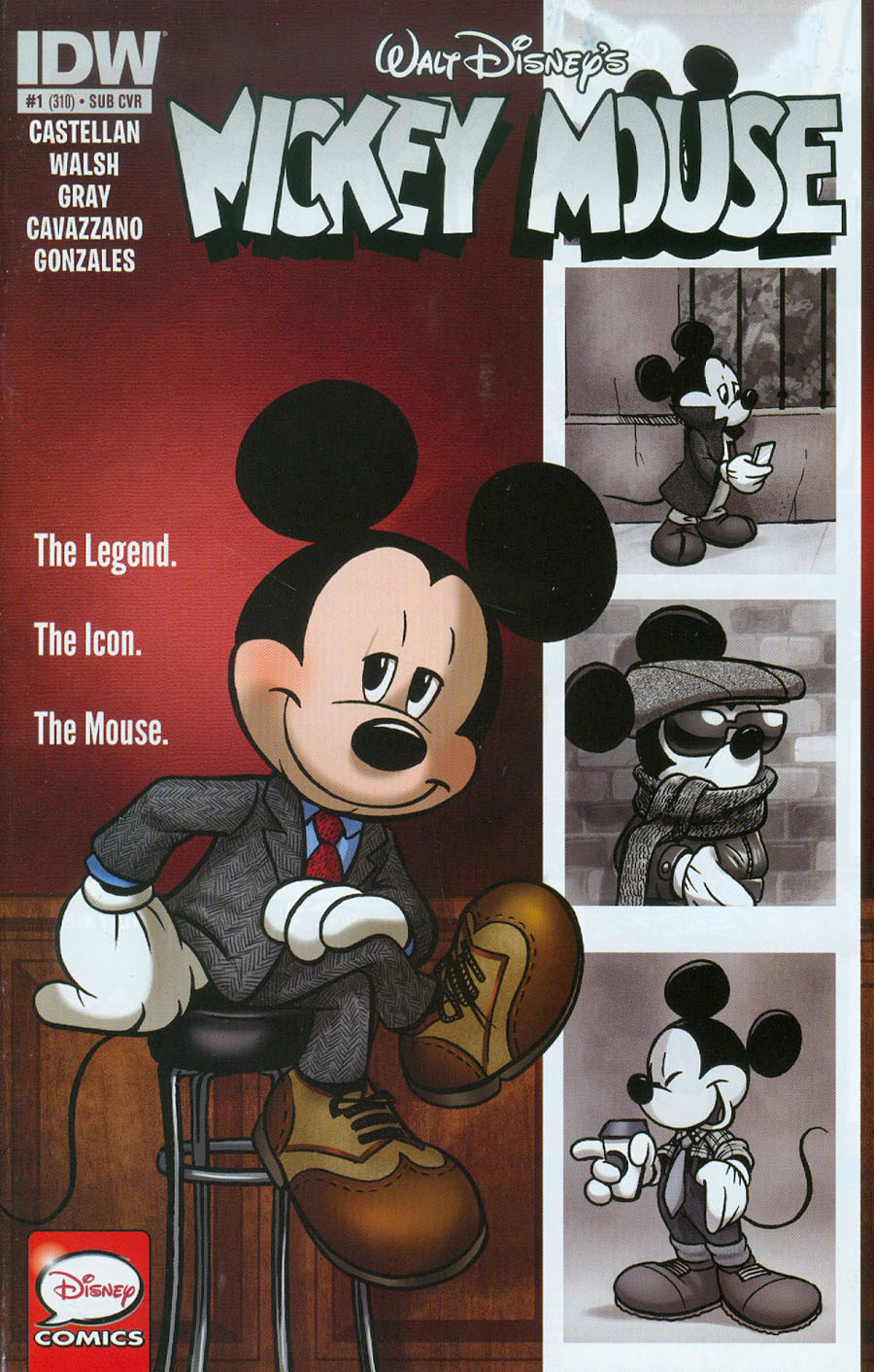 Mickey Mouse Vol 2 #1 Cover B Variant Amy Mebberson Subscription Cover