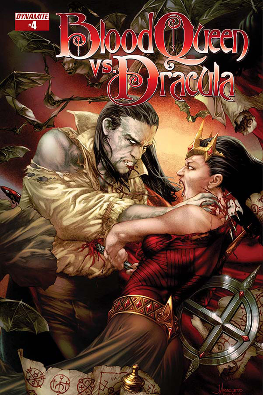 Blood Queen vs Dracula #4 Cover A Regular Jay Anacleto Cover