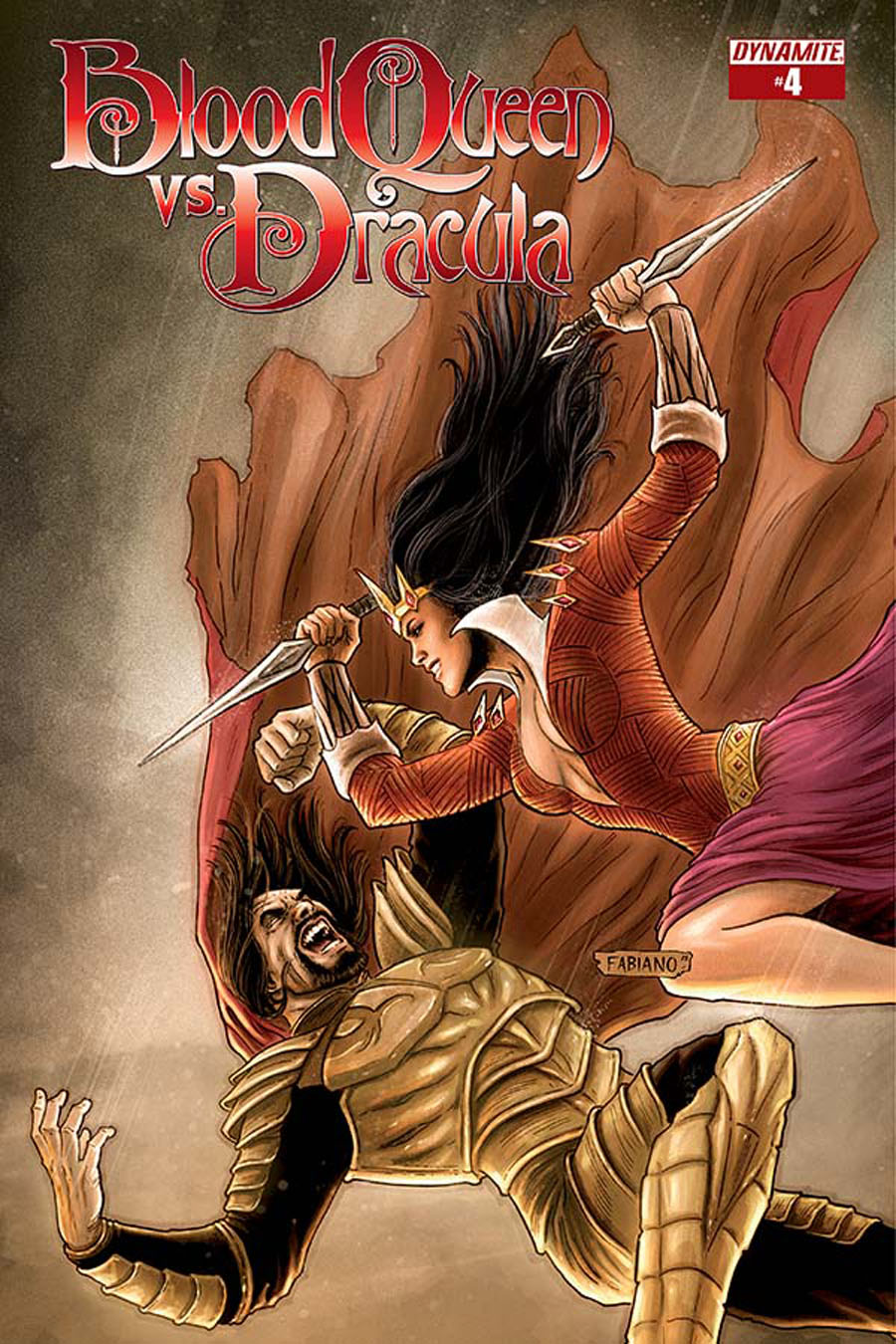 Blood Queen vs Dracula #4 Cover B Variant Fabiano Neves Subscription Cover