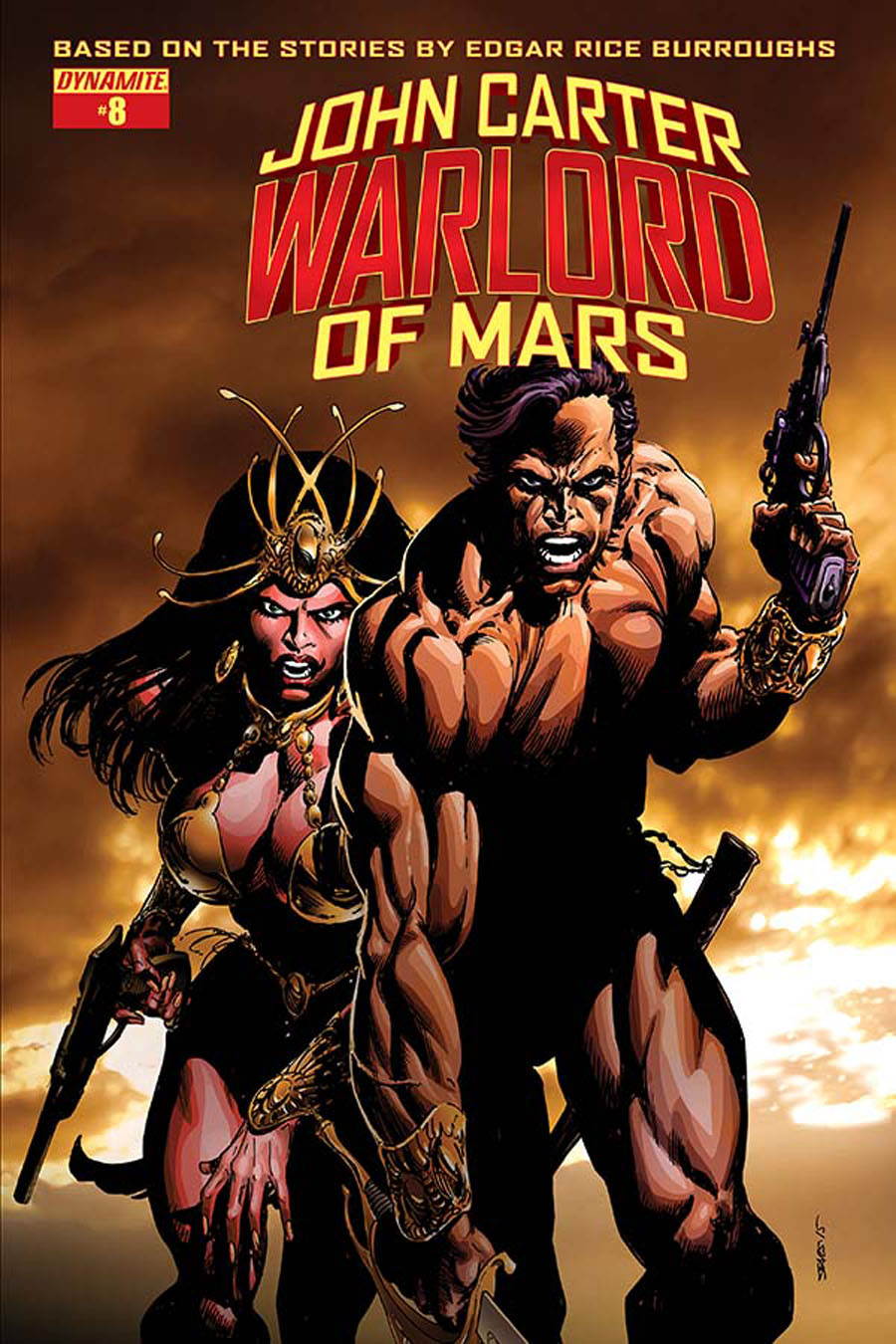 John Carter Warlord Of Mars Vol 2 #8 Cover B Variant Bart Sears Cover