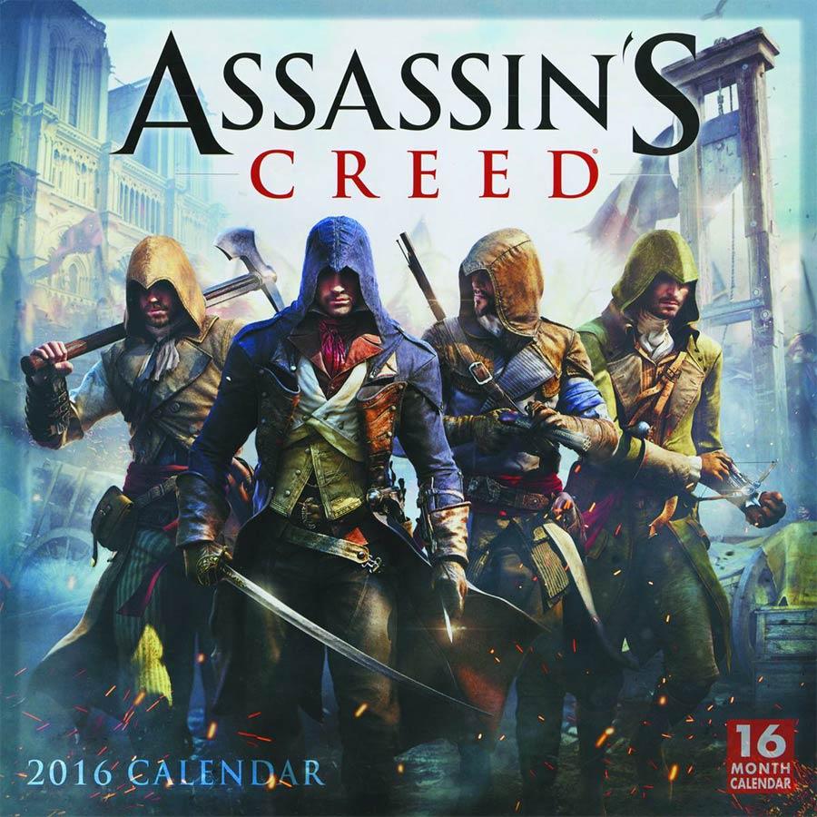 Assassins Creed 2016 16-Month Wall Calendar