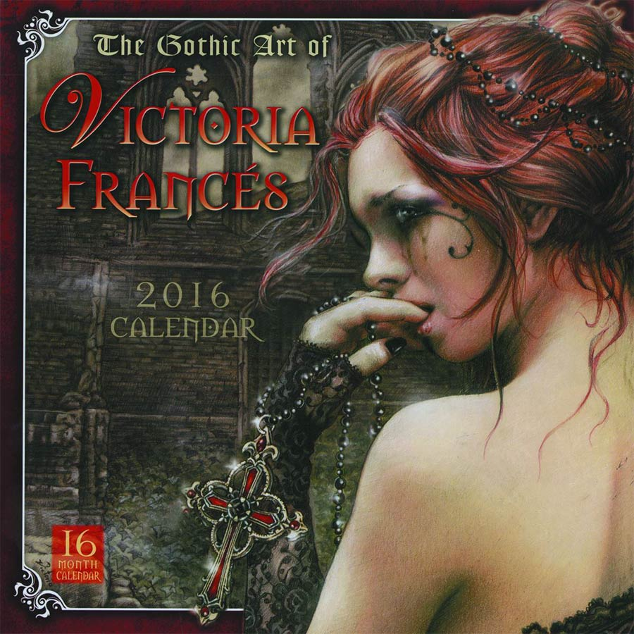Gothic Art Of Victoria Frances 2016 Wall Calendar