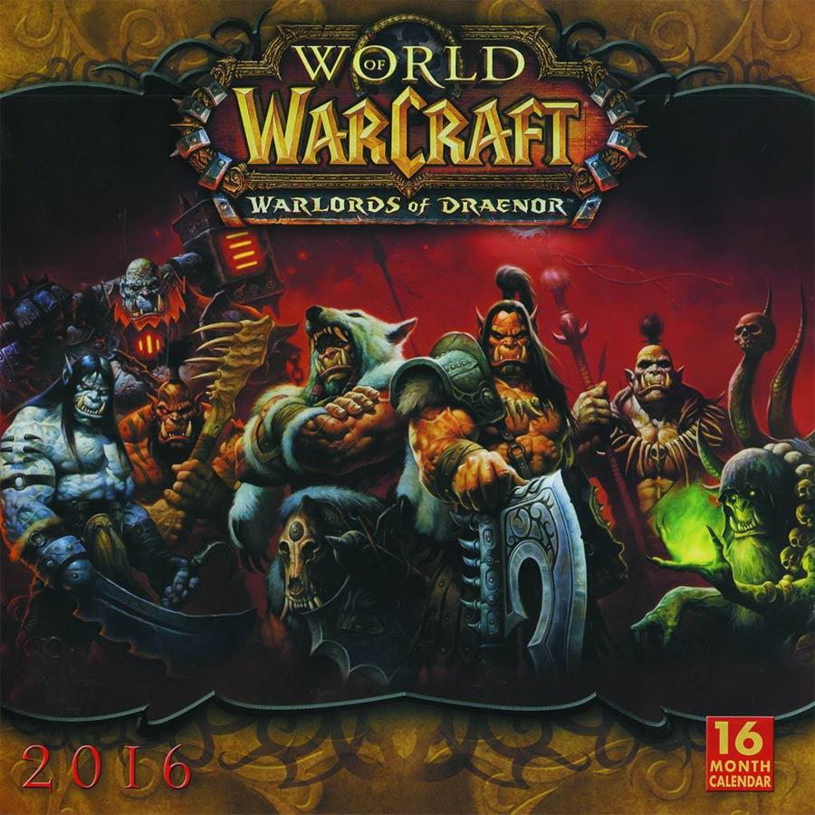 World Of Warcraft 2016 16-Month Wall Calendar