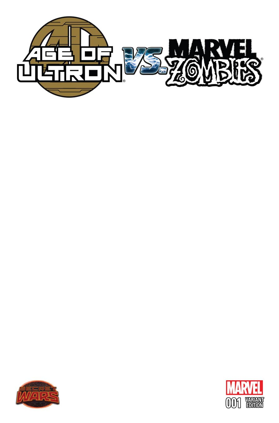 Age Of Ultron vs Marvel Zombies #1 Cover C Variant Blank Cover (Secret Wars Battleworld Tie-In)