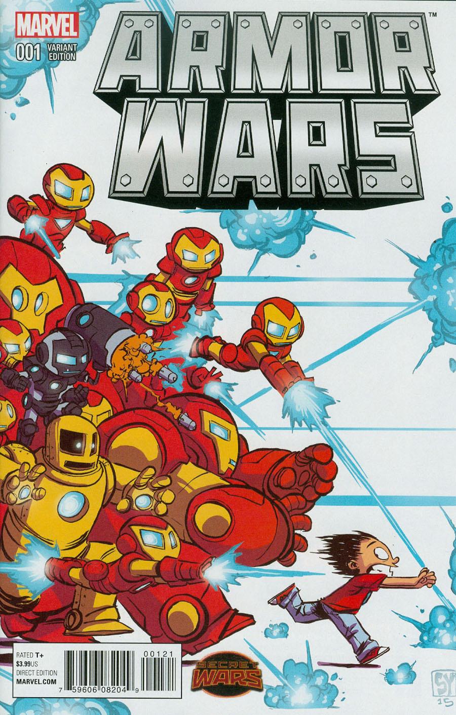 Armor Wars #1 Cover B Variant Skottie Young Baby Cover (Secret Wars Warzones Tie-In)