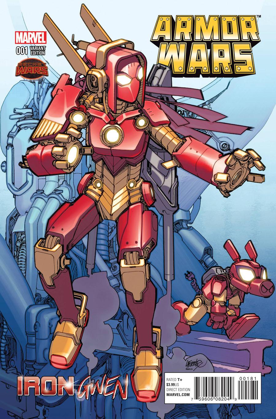 Armor Wars #1 Cover C Variant David Lafuente Iron Gwen Cover (Secret Wars Warzones Tie-In)