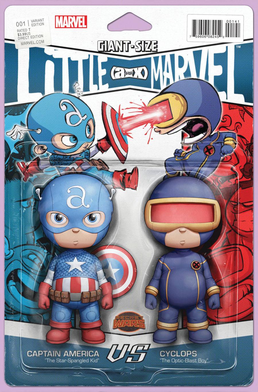 Giant-Size Little Marvel AvX #1 Cover B Variant John Tyler Christopher Action Figure Cover (Secret Wars Warzones Tie-In)