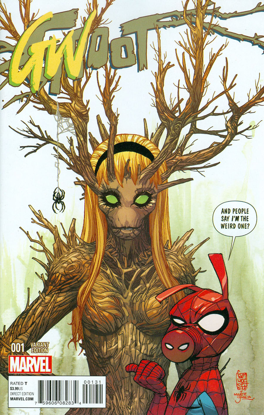 Groot #1 Cover B Variant Gwoot Cover
