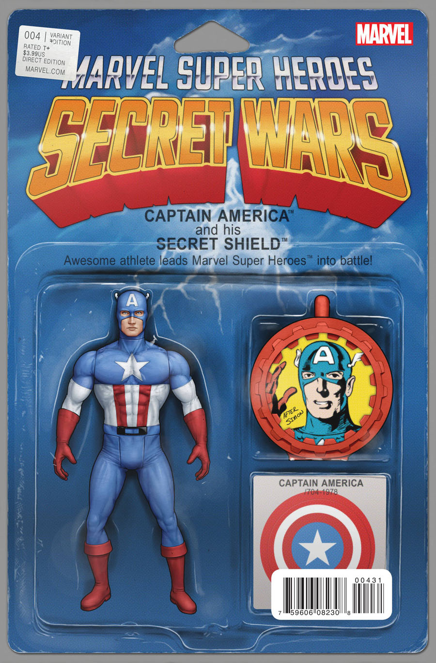 Secret Wars #4 Cover D Variant John Tyler Christopher Action Figure Cover