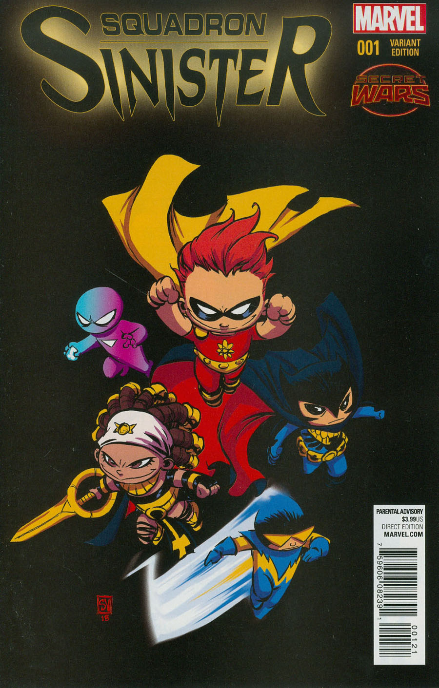 Squadron Sinister #1 Cover B Variant Skottie Young Baby Cover (Secret Wars Warzones Tie-In)