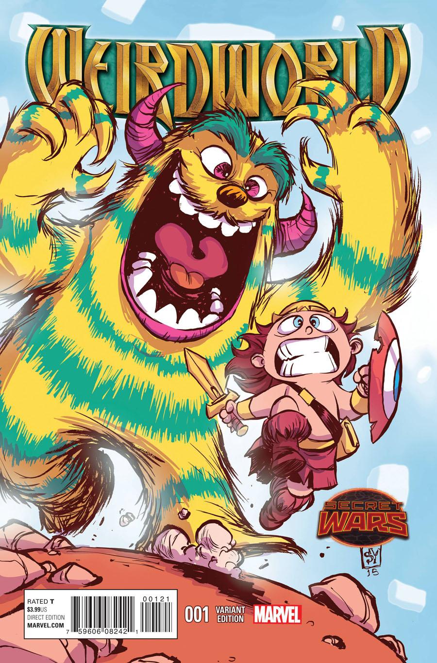 Weirdworld #1 Cover B Variant Skottie Young Baby Cover (Secret Wars Warzones Tie-In)