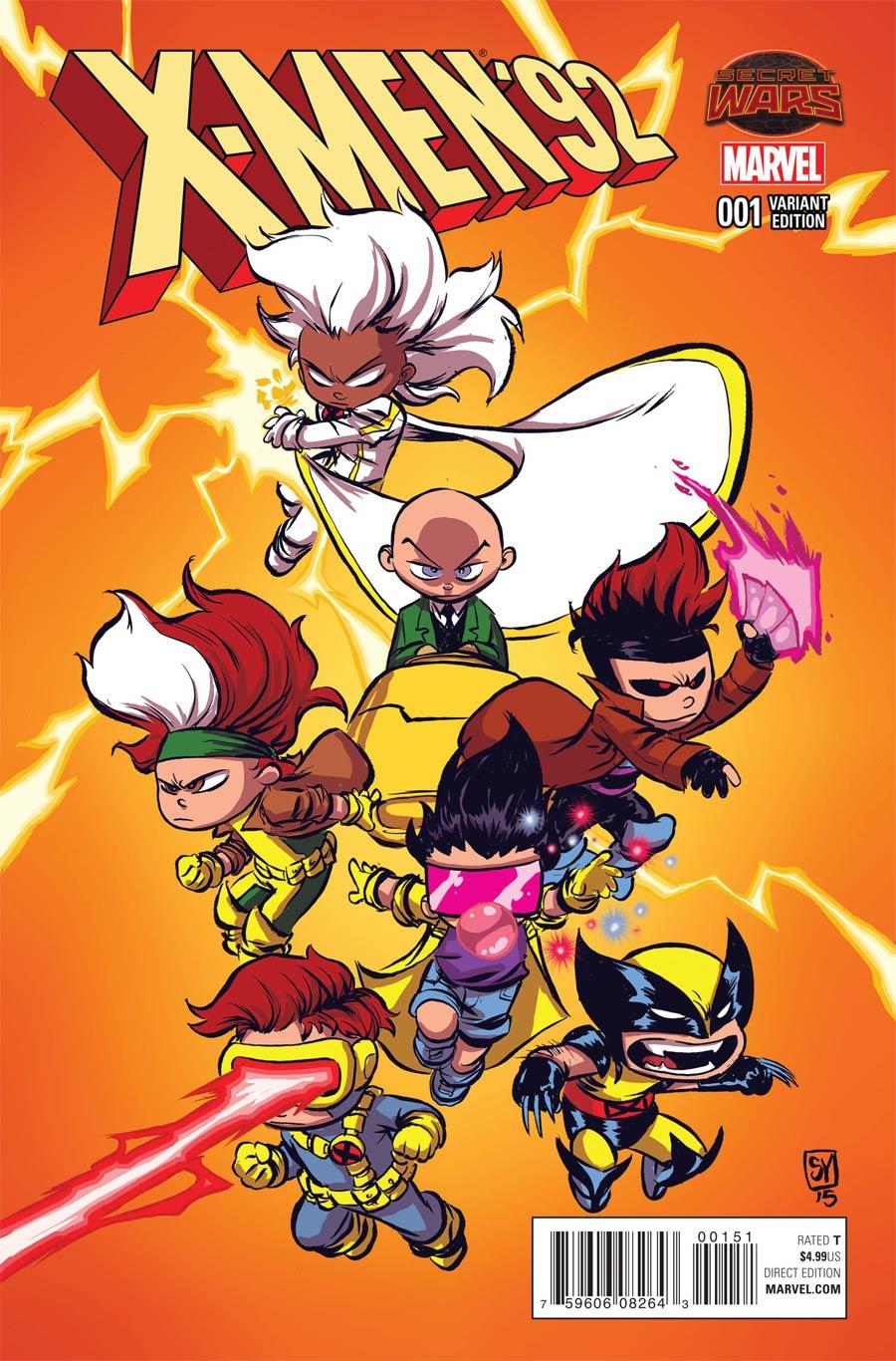 X-Men 92 #1 Cover B Variant Skottie Young Baby Cover (Secret Wars Warzones Tie-In)