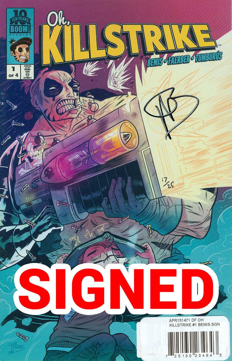 Oh Killstrike #1 Cover D DF Signed By Max Bemis