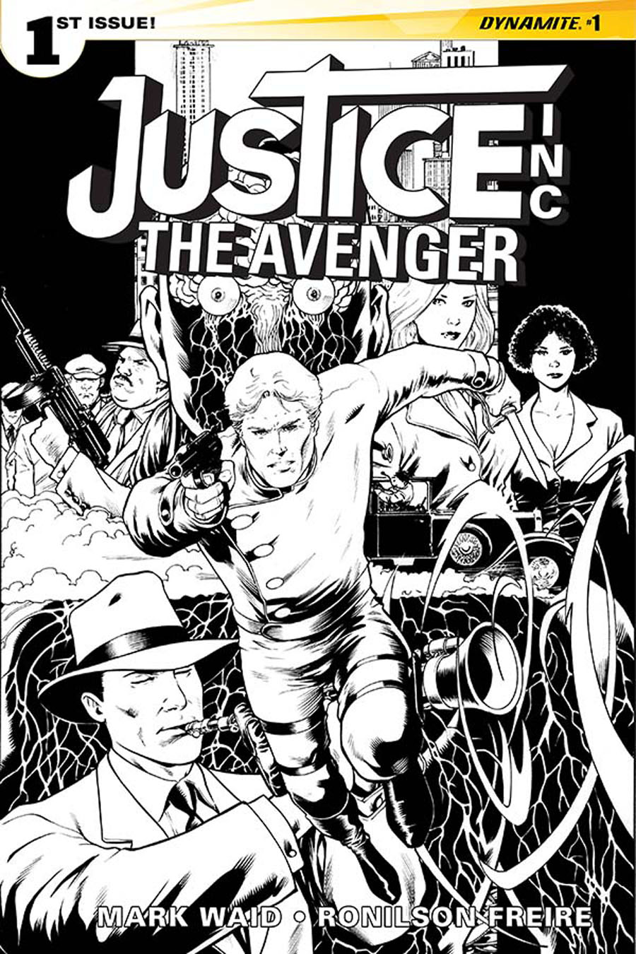 Justice Inc The Avenger #1 Cover G Incentive Barry Kitson Black & White Variant Cover