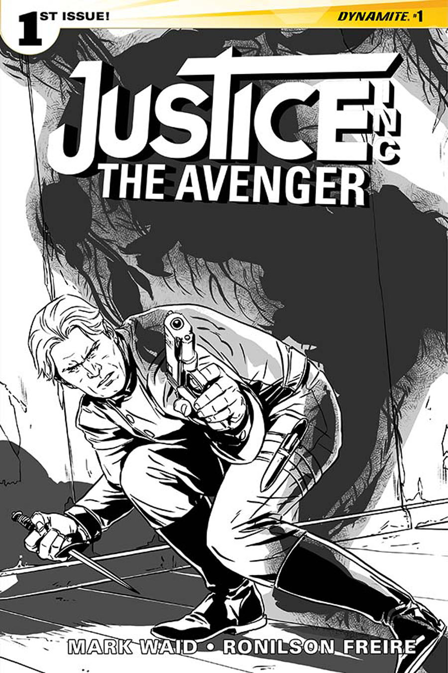 Justice Inc The Avenger #1 Cover H Incentive Marc Laming Black & White Cover
