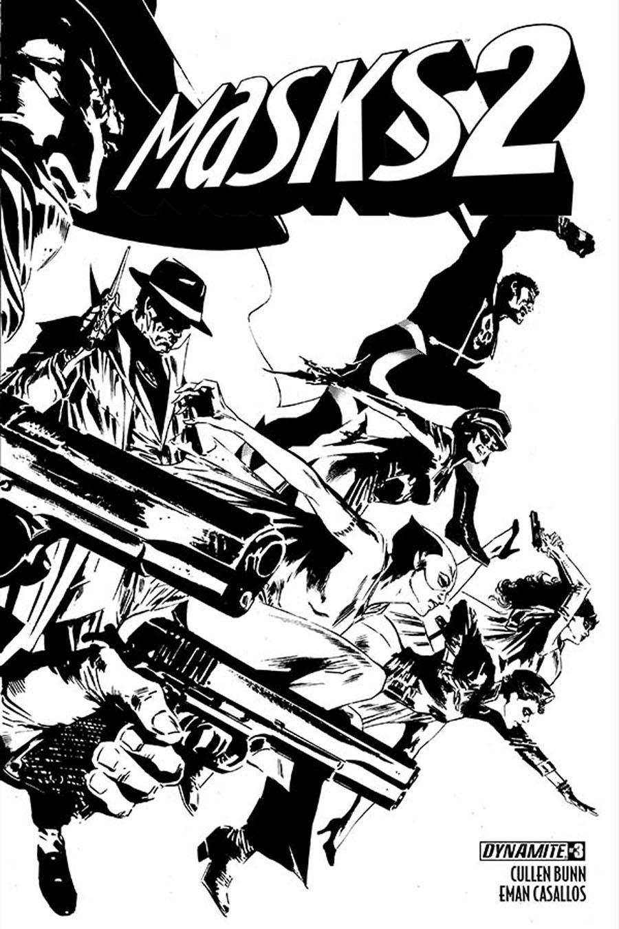 Masks 2 #3 Cover E Incentive Butch Guice Black & White Cover