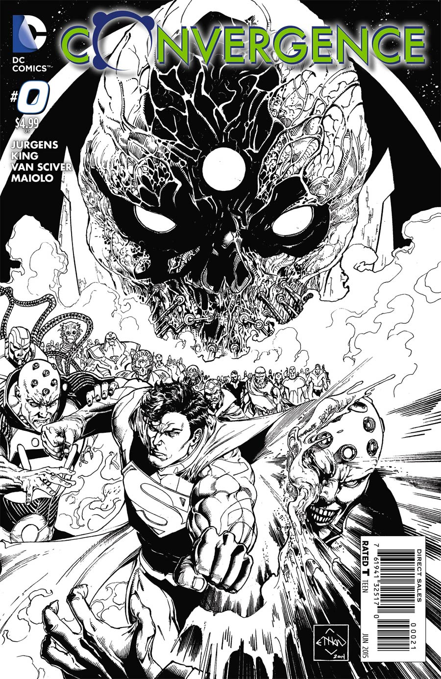 Convergence #0 Cover C Incentive Ethan Van Sciver Sketch Cover