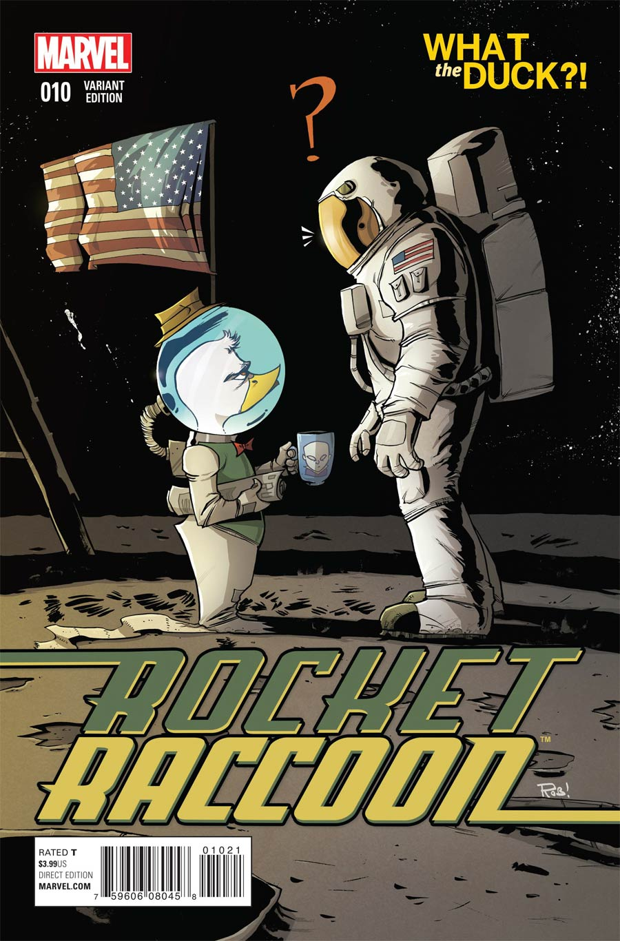 Rocket Raccoon Vol 2 #10 Cover B Variant Rob Guillory What The Duck Cover