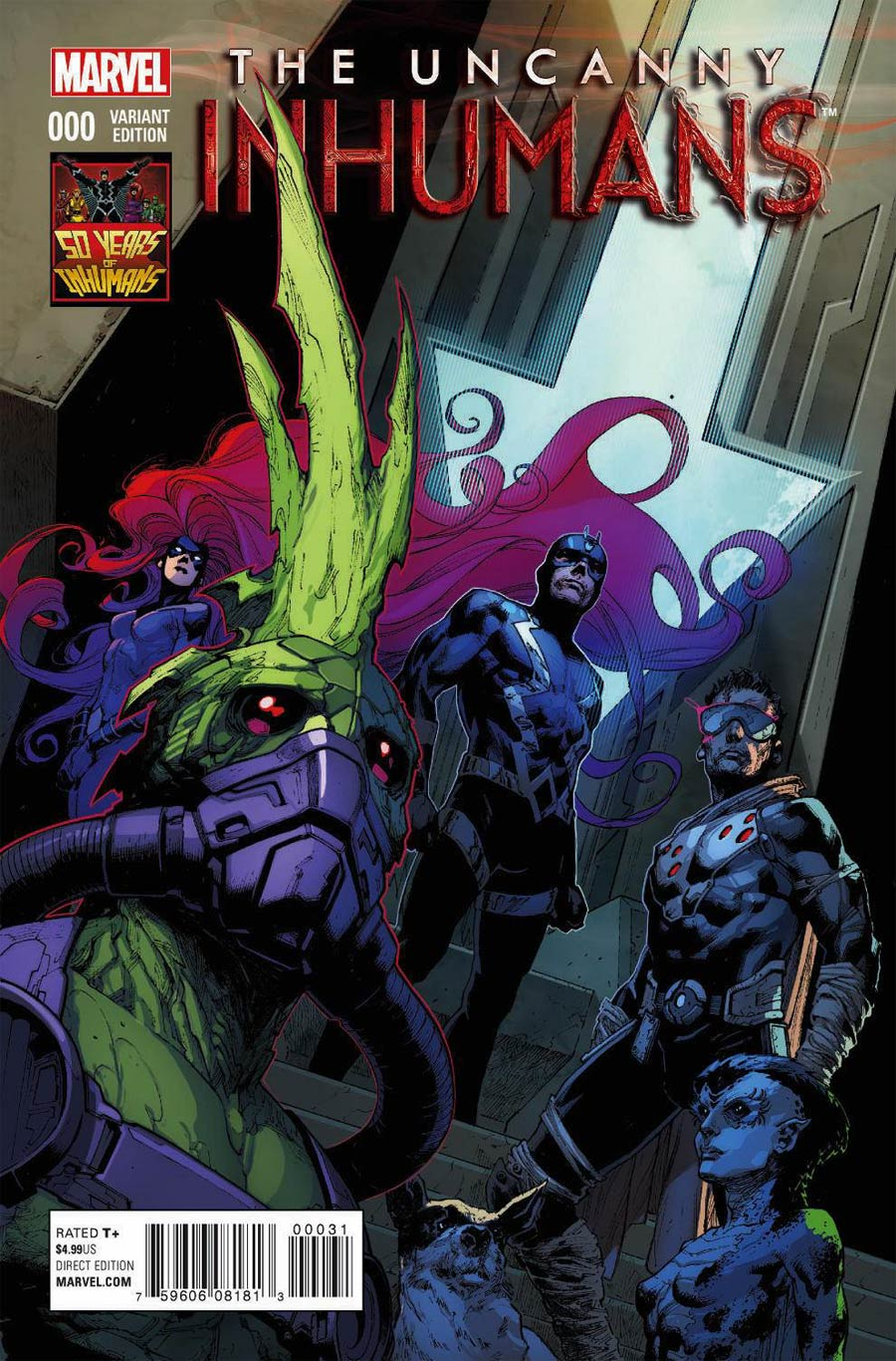 Uncanny Inhumans #0 Cover E Incentive Inhumans 50th Anniversary Variant Cover