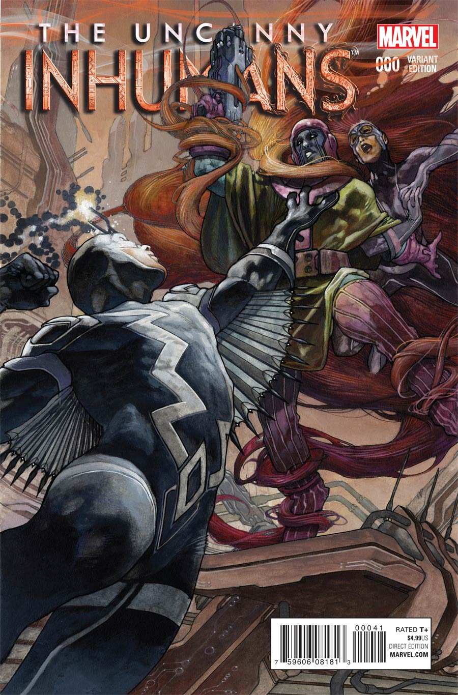 Uncanny Inhumans #0 Cover F Incentive Simone Bianchi Variant Cover