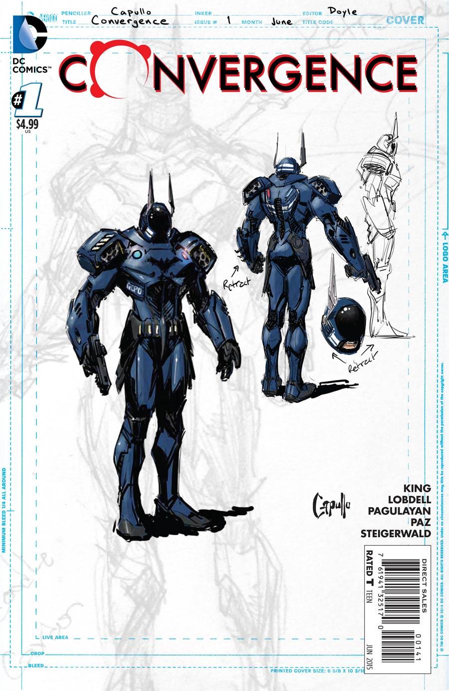 Convergence #1 Cover E Incentive Greg Capullo Batman Sketch Variant Cover