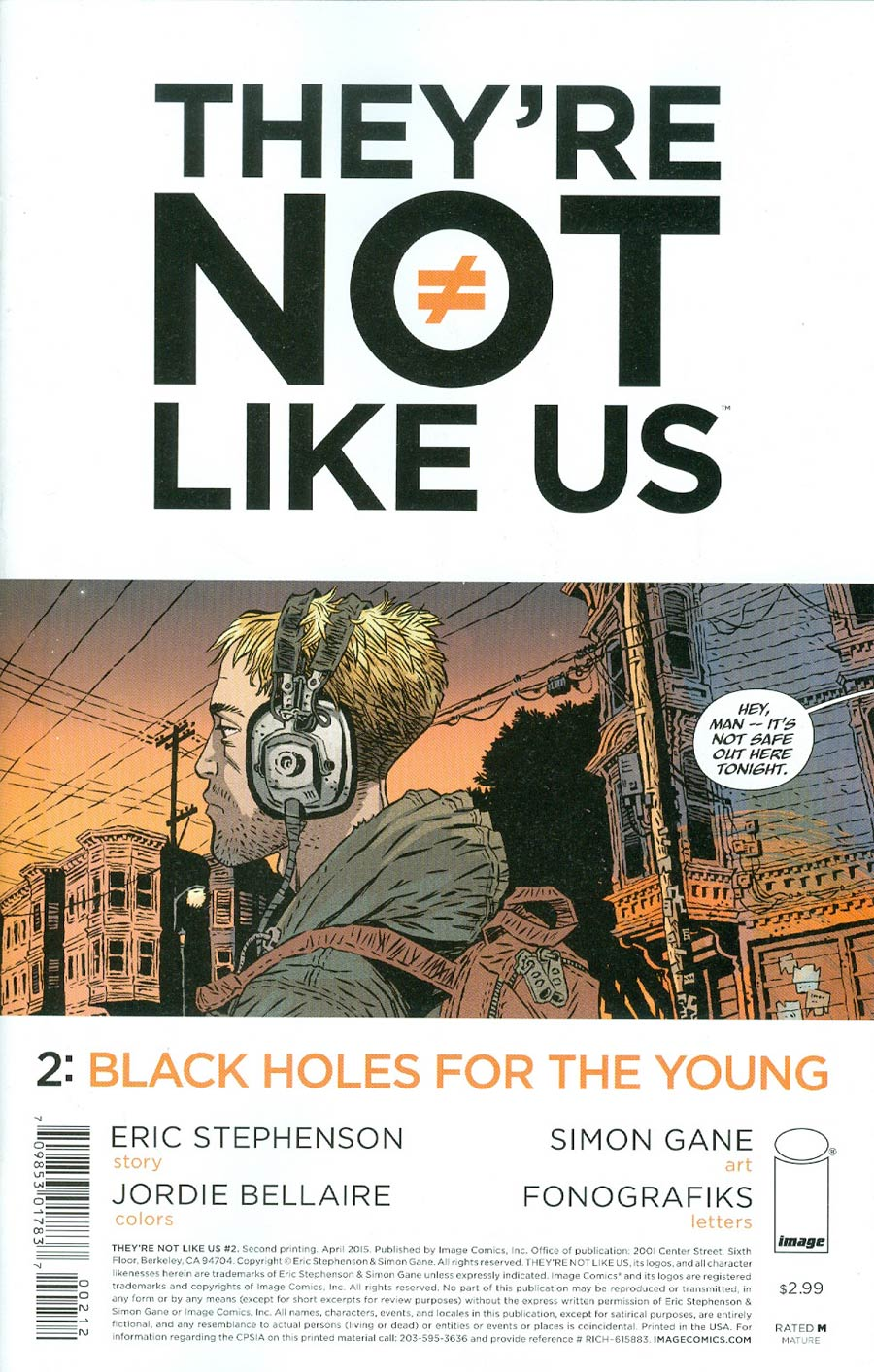 Theyre Not Like Us #2 Cover B 2nd Ptg Simon Gane Variant Cover