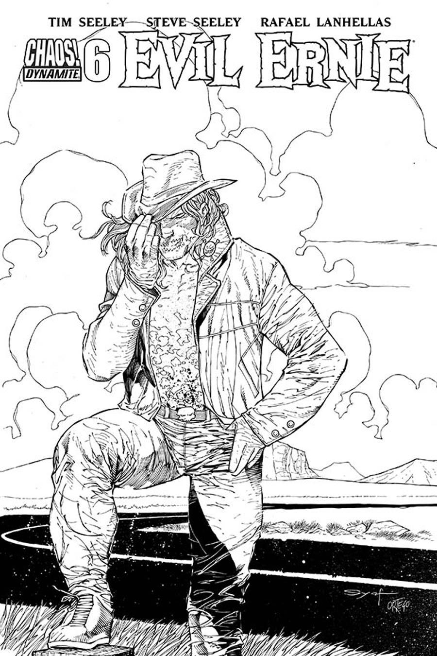 Evil Ernie Vol 4 #6 Cover E Incentive Ardian Syaf Black & White Cover