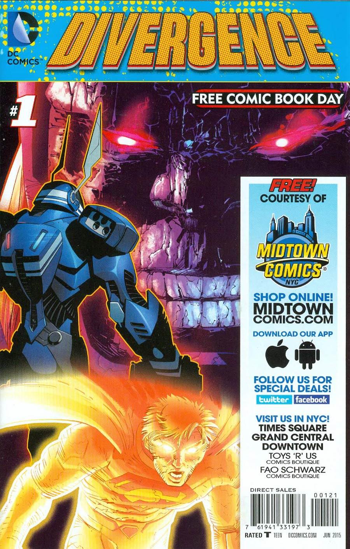 FCBD 2015 DC Comics Divergence Midtown Exclusive Custom Edition