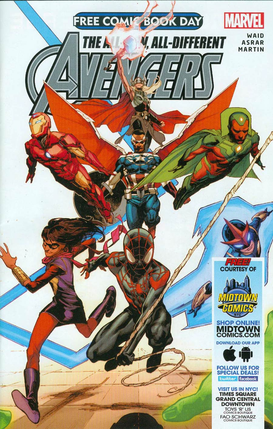 FCBD 2015 All-New All-Different Avengers #1 Midtown Exclusive Custom Edition